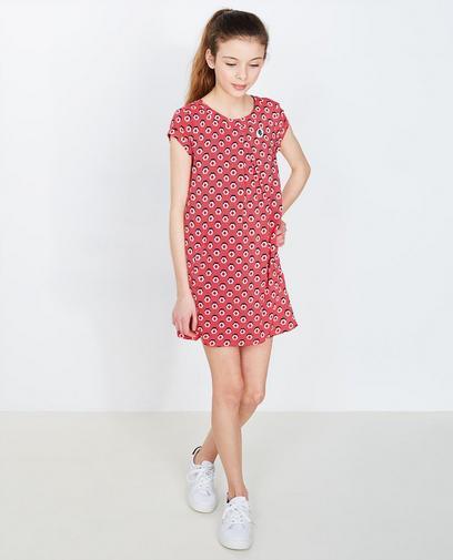Rode jurk met print
